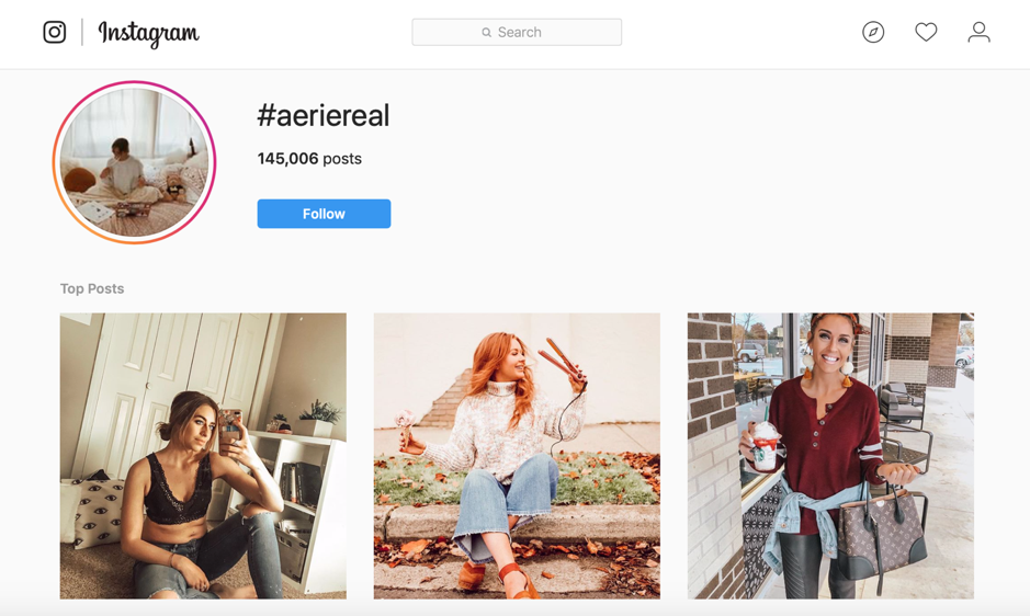 #aeriereal post di Instagram