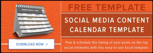 Template gratuito Calendario di contenuti multimediali