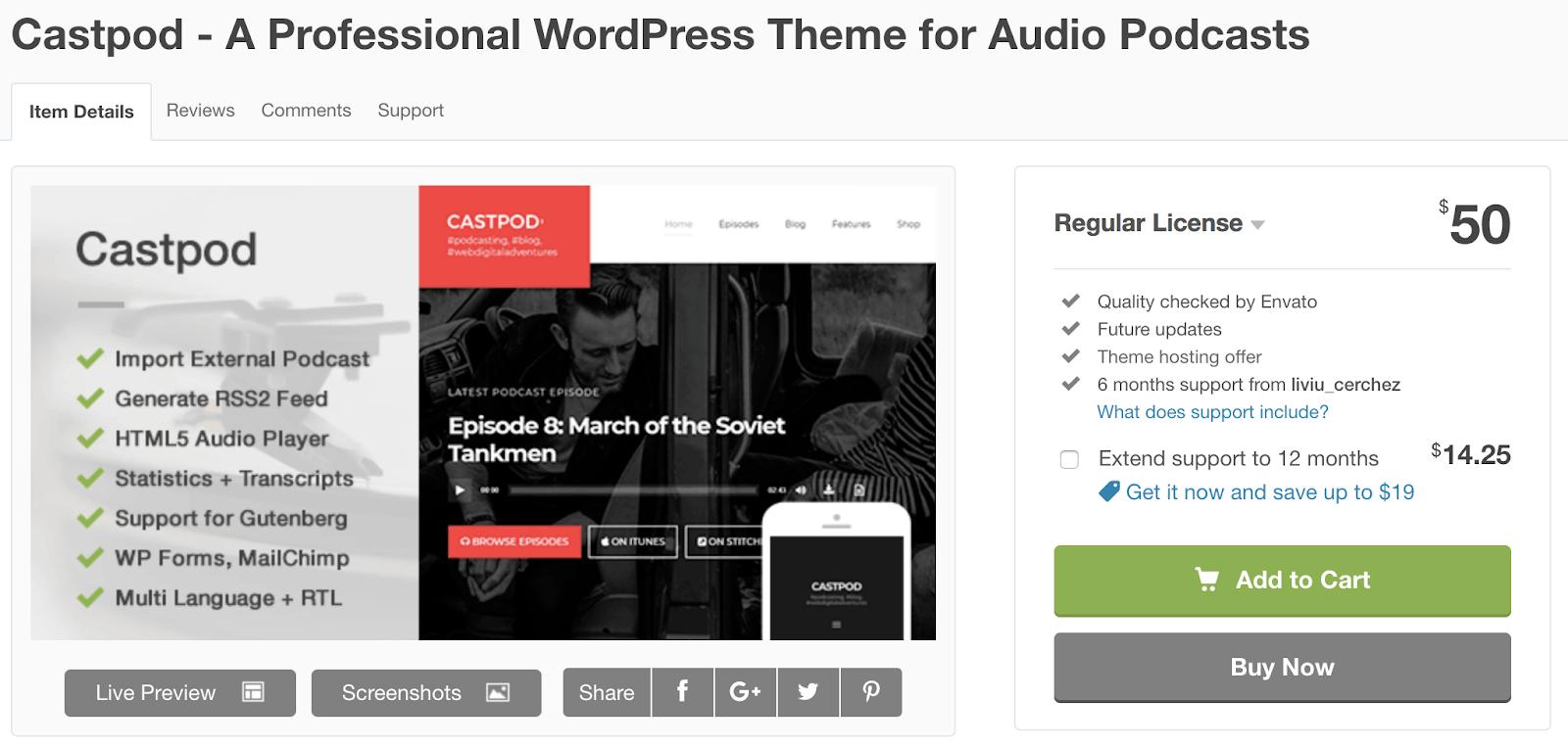 castpod-wordpress-tema