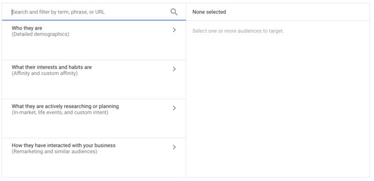 Opzioni di targeting di YouTube 01