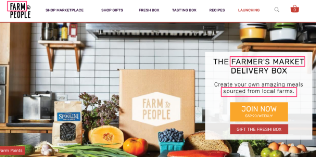 Sito Web di Farm to People