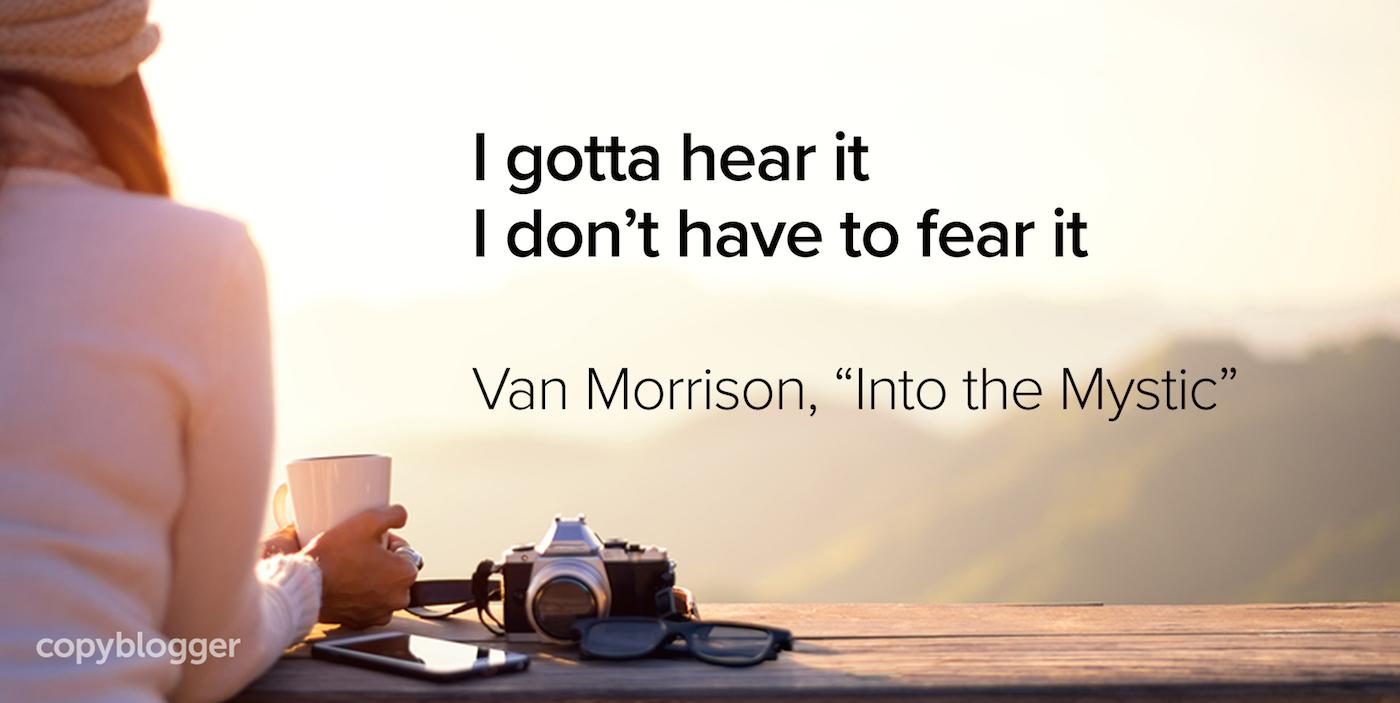 Devo sentirlo, non devo temerlo Van Morrison,