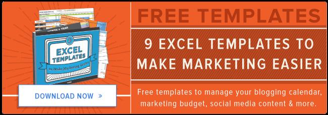 modelli di Excel gratuiti per il marketing