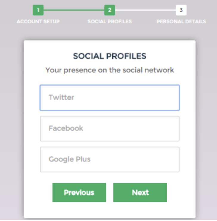 una pagina-web-form-layout di