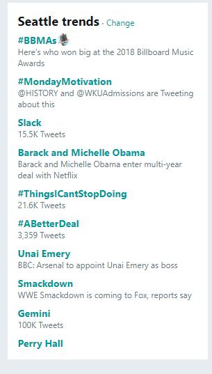 tendenze di twitter hacks 2