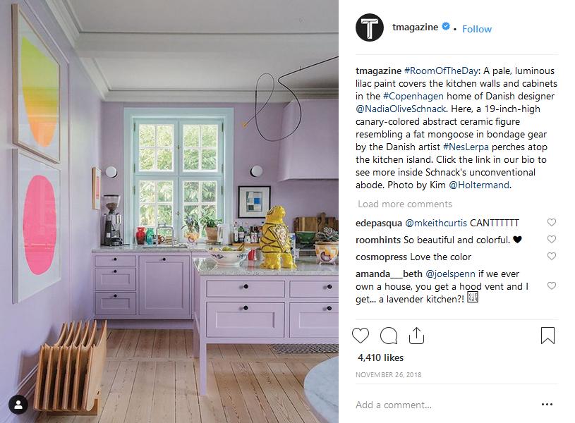 Usando gli hashtag di Instagram gli screenshot del New York Times T Magazine