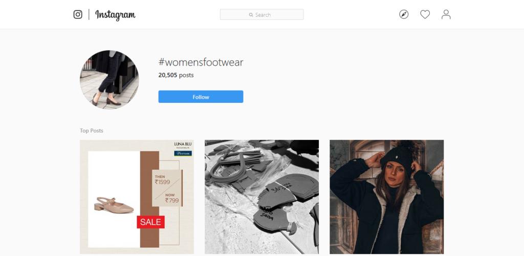 Hashtag delle calzature da donna di Instagram Hashtags Strategy