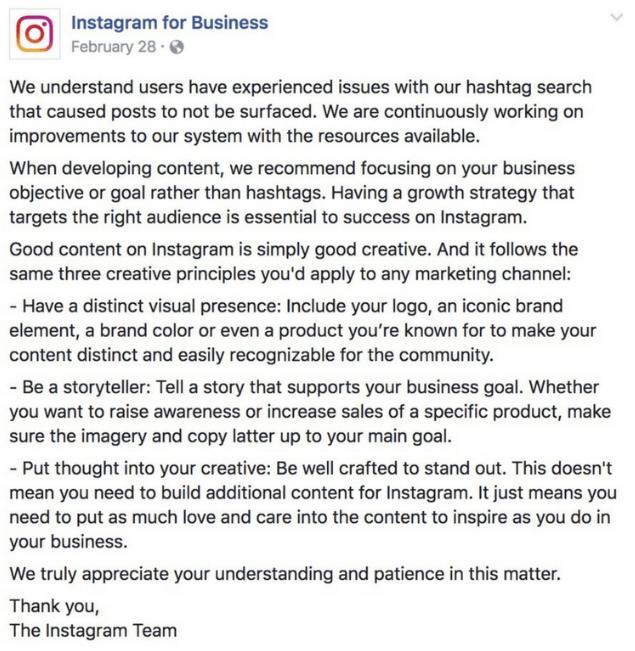 Hashtag di hashtag di strategia hashtag avviso di searchban