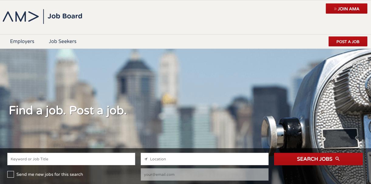 "american-marketing-association-ama-job-site ""width ="" 1221 ""style ="" width: 1221px; ""srcset ="" https://blog.hubspot.com/hs-fs/hubfs/american-marketing-association- ama-job-site.png? width = 611 e name = american-marketing-association-ama-job-site.png 611w, https://blog.hubspot.com/hs-fs/hubfs/american-marketing-association-ama -job-site.png? width = 1221 & name = american-marketing-association-ama-job-site.png 1221w, https://blog.hubspot.com/hs-fs/hubfs/american-marketing-association-ama- job-site.png? width = 1832 & name = american-marketing-association-ama-job-site.png 1832w, https://blog.hubspot.com/hs-fs/hubfs/american-marketing-association-ama-job -site.png? width = 2442 & name = american-marketing-association-ama-job-site.png 2442w, https://blog.hubspot.com/hs-fs/hubfs/american-marketing-association-ama-job- site.png? width = 3053 & name = american-marketing-association-ama-job-site.png 3053w, https://blog.hubspot.com/hs-fs/hubfs/american-marketing-association-ama-job-site .png? width = 3663 & name = americano-marketing-associazione-un ma-job-site.png 3663w ""sizes ="" (larghezza massima: 1221px) 100vw, 1221px"