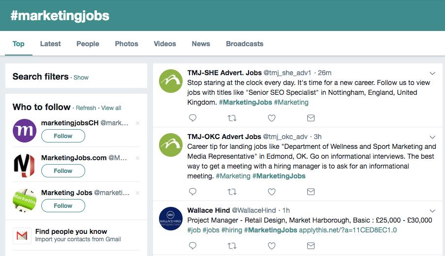 "twitter-jobs ""width ="" 904 ""style ="" width: 904px; ""srcset ="" https://blog.hubspot.com/hs-fs/hubfs/twitter-jobs.png?width=452&name=twitter-jobs. png 452w, https://blog.hubspot.com/hs-fs/hubfs/twitter-jobs.png?width=904&name=twitter-jobs.png 904w, https://blog.hubspot.com/hs-fs/ hubfs / twitter-jobs.png? width = 1356 & name = twitter-jobs.png 1356w, https://blog.hubspot.com/hs-fs/hubfs/twitter-jobs.png?width=1808&name=twitter-jobs.png 1808w, https://blog.hubspot.com/hs-fs/hubfs/twitter-jobs.png?width=2260&name=twitter-jobs.png 2260w, https://blog.hubspot.com/hs-fs/hubfs /twitter-jobs.png?width=2712&name=twitter-jobs.png 2712w ""sizes ="" (larghezza massima: 904 px) 100vw, 904 px"
