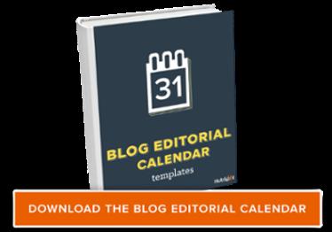 scarica il modello di calendario editoriale del blog gratuito