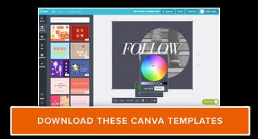scarica gratuitamente i modelli di design di Canva