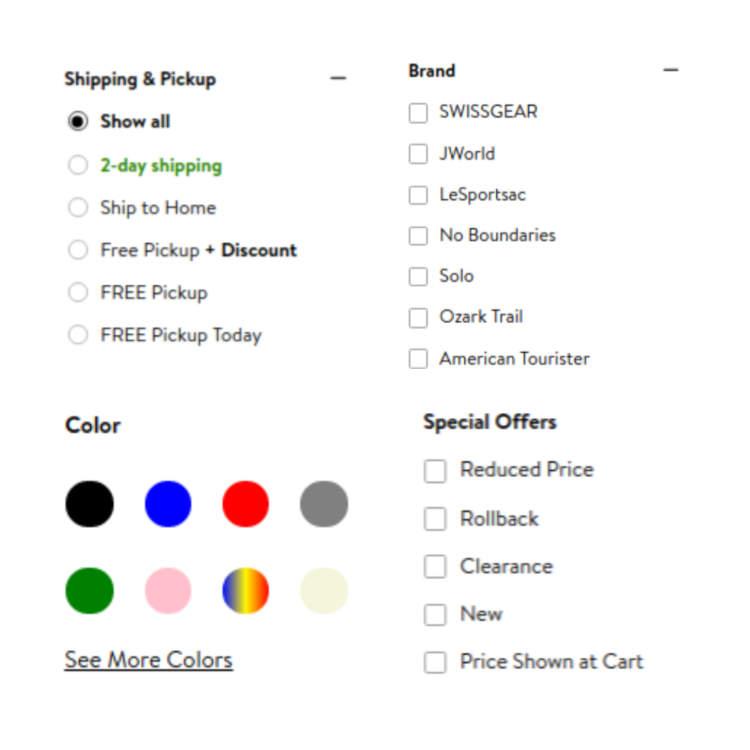 vendendo su walmart marketplace category