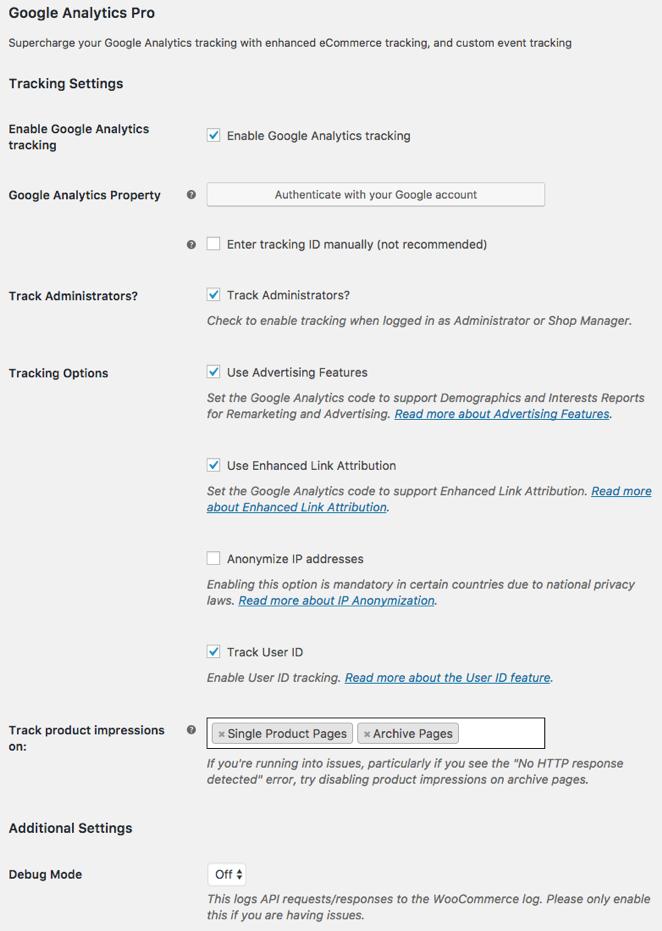 Configurazione di WooCommerce in Google Analytics