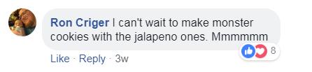 risposta utente facebook di m & ms