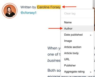 """Tag autore creato utilizzando l'helper per il markup dei dati strutturati di Google """"width ="""" 400 """"style ="""" width: 400px; blocco di visualizzazione; margin-left: auto; margin-right: auto; """"srcset ="""" https://blog.hubspot.com/hs-fs/hubfs/author-tag-google-structured-data.jpg?width=200&name=author-tag-google-structured- data.jpg 200w, https://blog.hubspot.com/hs-fs/hubfs/author-tag-google-structured-data.jpg?width=400&name=author-tag-google-structured-data.jpg 400w, https://blog.hubspot.com/hs-fs/hubfs/author-tag-google-structured-data.jpg?width=600&name=author-tag-google-structured-data.jpg 600w, https: // blog .hubspot.com / hs-fs / hubfs / autore-tag-google-strutturato-data.jpg? width = 800 & name = autore-tag-google-strutturato-data.jpg 800w, https://blog.hubspot.com/ hs-fs / hubfs / autore-tag-google-strutturato-data.jpg? width = 1000 & name = autore-tag-google-strutturato-data.jpg 1000w, https://blog.hubspot.com/hs-fs/hubfs /author-tag-google-structured-data.jpg?width=1200&name=author-tag-google-structured-data.jpg 1200w """"sizes ="""" (larghezza massima: 400px) 100vw, 400px"""
