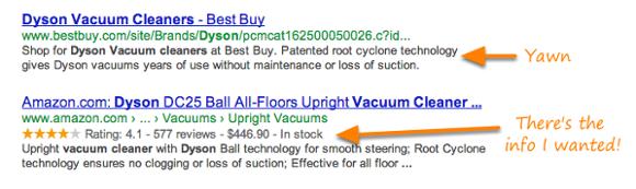 "product-google-rich-snippet ""width ="" 580 ""srcset ="" https://blog.hubspot.com/hs-fs/hub/53/file-29053688-png/product-google-rich-snippet.png? width = 290 & name = product-google-rich-snippet.png 290w, https://blog.hubspot.com/hs-fs/hub/53/file-29053688-png/product-google-rich-snippet.png?width = 580 & name = product-google-rich-snippet.png 580w, https://blog.hubspot.com/hs-fs/hub/53/file-29053688-png/product-google-rich-snippet.png?width= 870 e name = product-google-rich-snippet.png 870w, https://blog.hubspot.com/hs-fs/hub/53/file-29053688-png/product-google-rich-snippet.png?width=1160&name = product-google-rich-snippet.png 1160w, https://blog.hubspot.com/hs-fs/hub/53/file-29053688-png/product-google-rich-snippet.png?width=1450&name= product-google-rich-snippet.png 1450w, https://blog.hubspot.com/hs-fs/hub/53/file-29053688-png/product-google-rich-snippet.png?width=1740&name=product -google-rich-snippet.png 1740w ""sizes ="" (larghezza massima: 580 px) 100vw, 580 px"