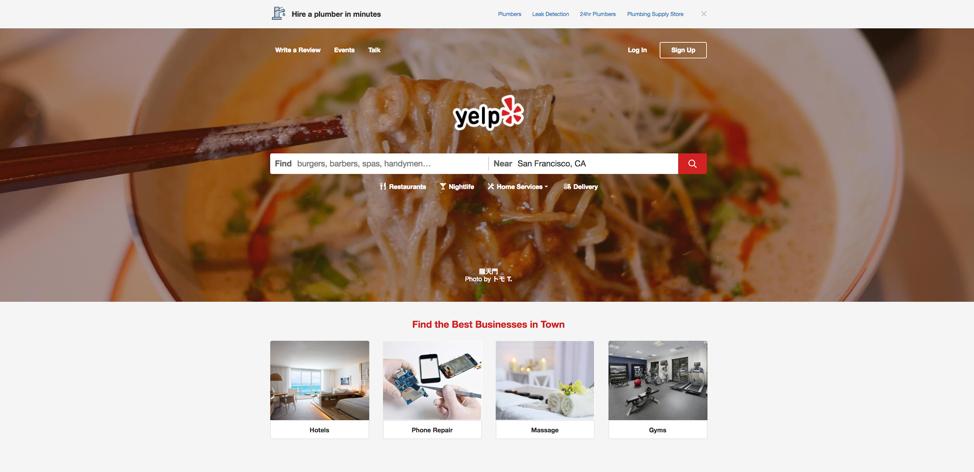 Directory web di Yelp
