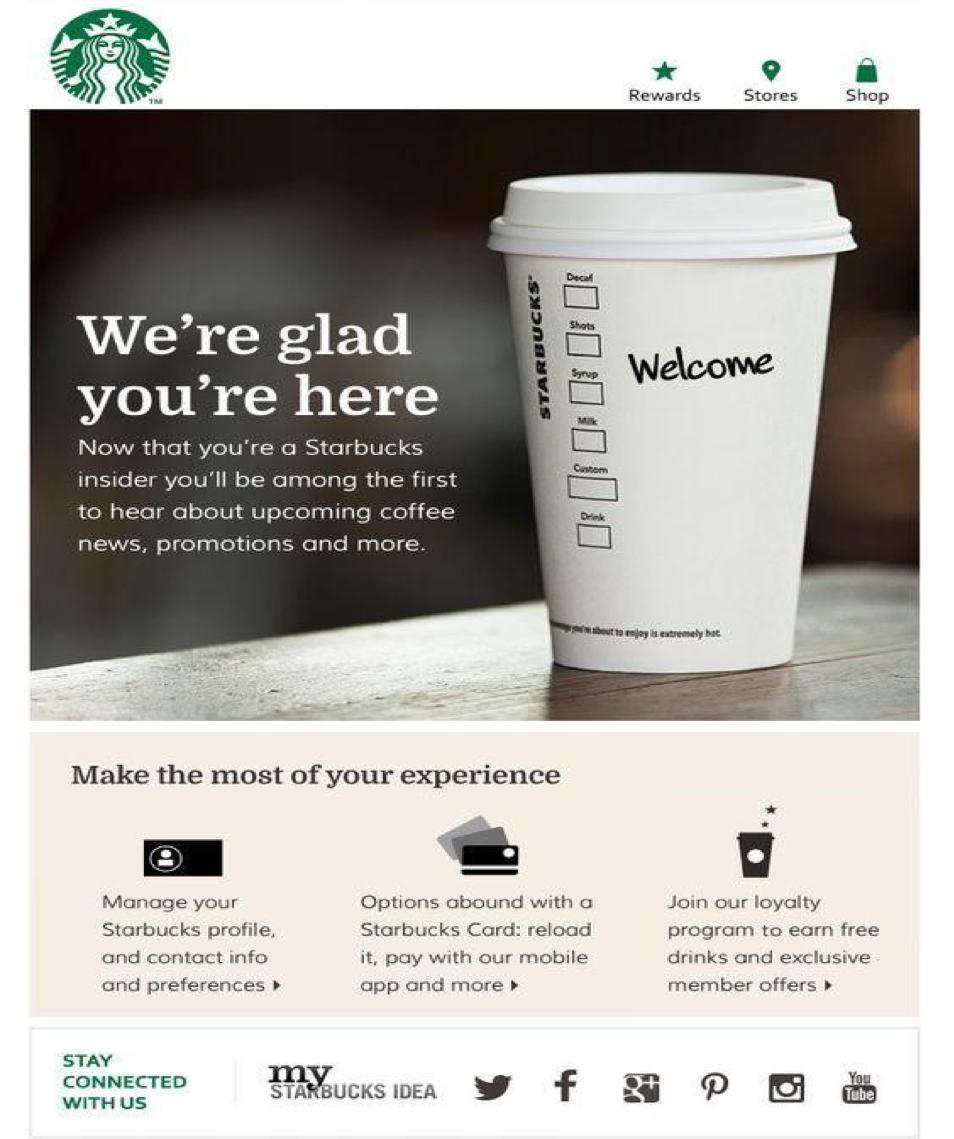 Starbucks ha attivato la posta elettronica