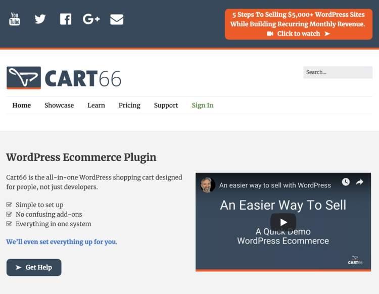 plugin per e-commerce wordpress cart66