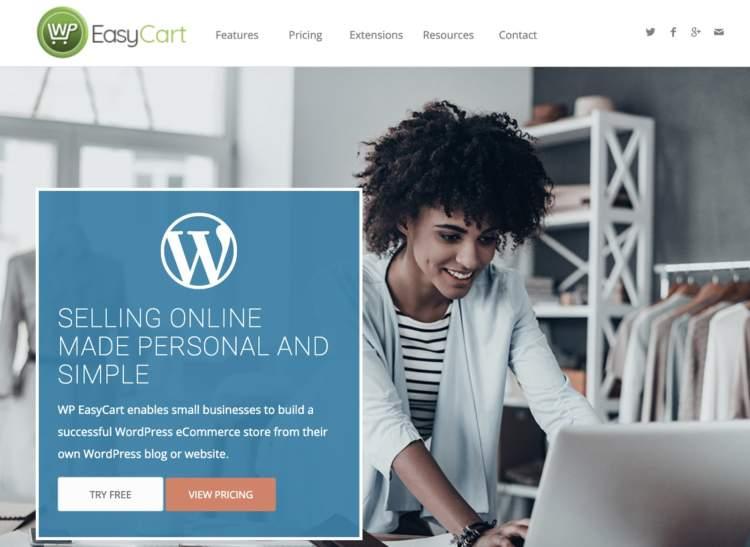plugin per e-commerce wordpress wp easycart