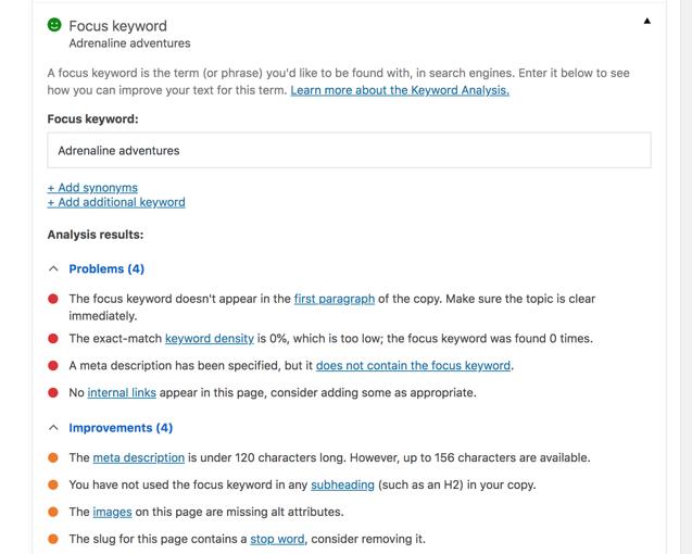 Yoast plugin per WordPress