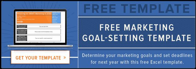 modello di impostazione degli obiettivi di marketing gratuito