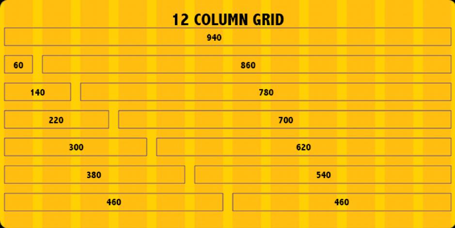 Griglia a 12 colonne