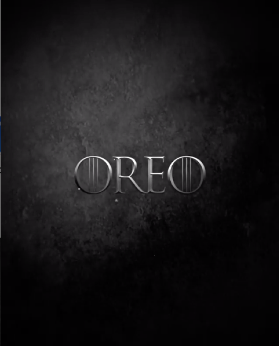 Oreo e Game of Thrones Instagram post 1