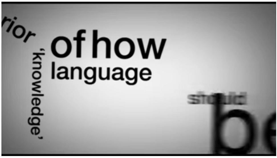Tipografia cinetica di Stephen Fry