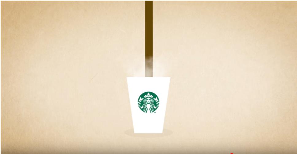 Esempio di tipografia cinetica di Starbucks