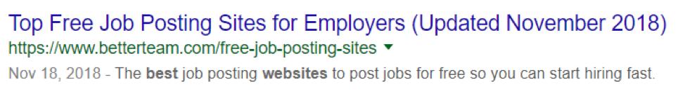 Pubblicazione di lavori in snippet in primo piano