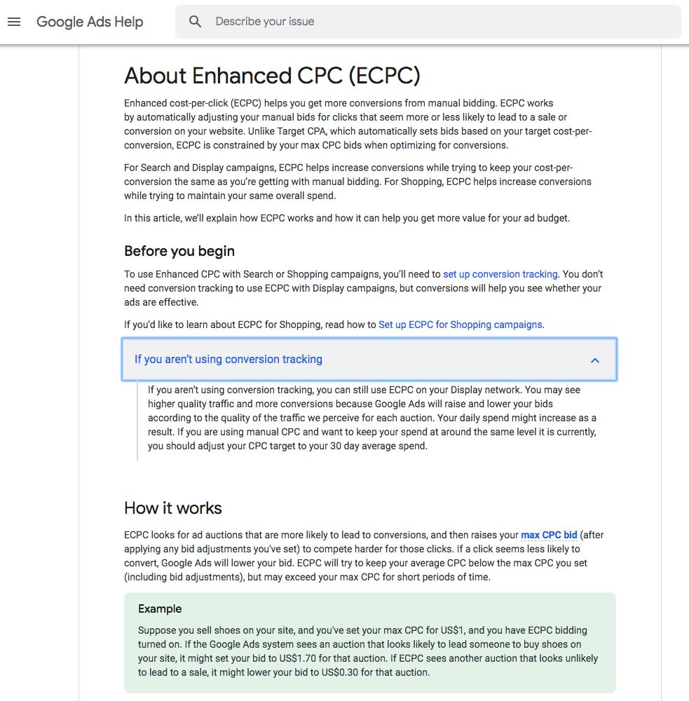 CPC ottimizzato per google