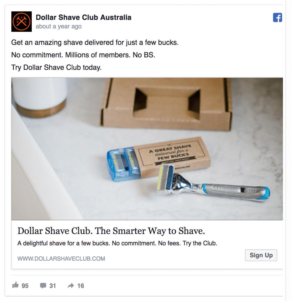Pubblicità CPC dell'annuncio di Facebook
