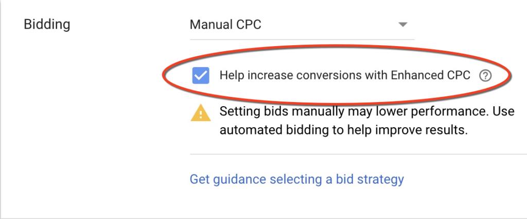Pubblicità CPC ottimizzata per Google ECPC