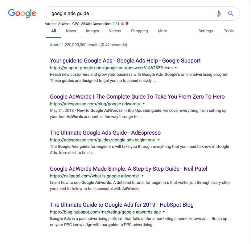 annunci di marketing cpc di google