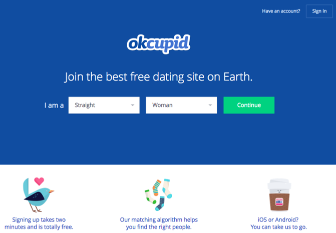"""OKCupid signup call to action button """"title ="""" okcupid-cta.png """"width ="""" 671 """"height ="""" 466 """"srcset ="""" https://blog.hubspot.com/hs-fs/hubfs/okcupid-cta.png ? width = 336 & height = 233 & name = okcupid-cta.png 336w, https://blog.hubspot.com/hs-fs/hubfs/okcupid-cta.png?width=671&height=466&name=okcupid-cta.png 671w, https : //blog.hubspot.com/hs-fs/hubfs/okcupid-cta.png? width = 1007 & height = 699 & name = okcupid-cta.png 1007w, https://blog.hubspot.com/hs-fs/hubfs/ okcupid-cta.png? width = 1342 & height = 932 & name = okcupid-cta.png 1342w, https://blog.hubspot.com/hs-fs/hubfs/okcupid-cta.png?width=1678&height=1165&name=okcupid-cta .png 1678w, https://blog.hubspot.com/hs-fs/hubfs/okcupid-cta.png?width=2013&height=1398&name=okcupid-cta.png 2013w """"sizes ="""" (larghezza massima: 671 px) 100vw , 671 px"""
