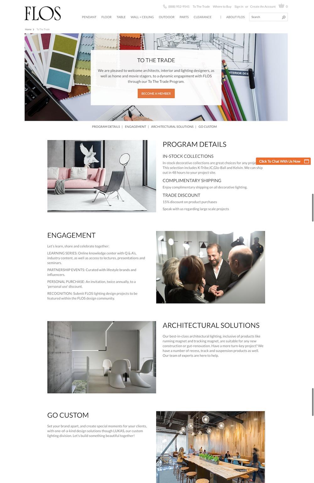 b2b portale di e-commerce per l'arredamento di casa