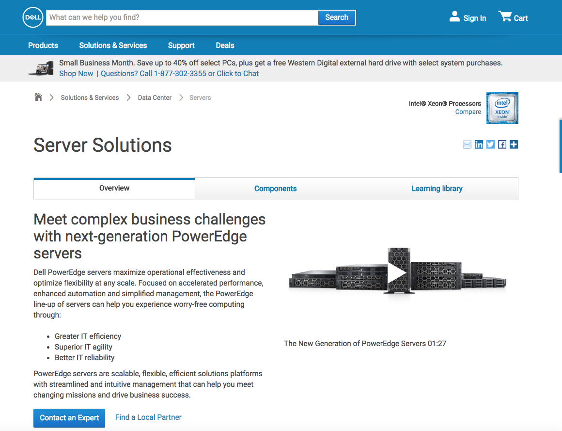 vendite del server Dell B2b