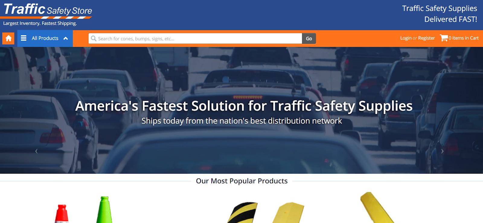 b2b sito di e-commerce per attrezzature di sicurezza del traffico