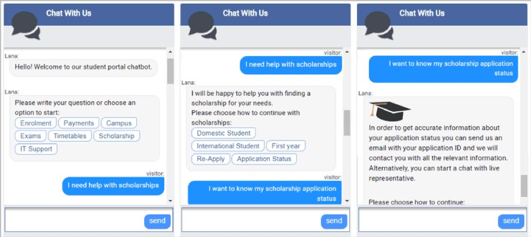 Interventi agli studenti di Chatbot