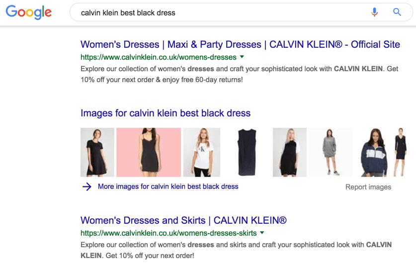 Calvin Klein vestito nero migliore