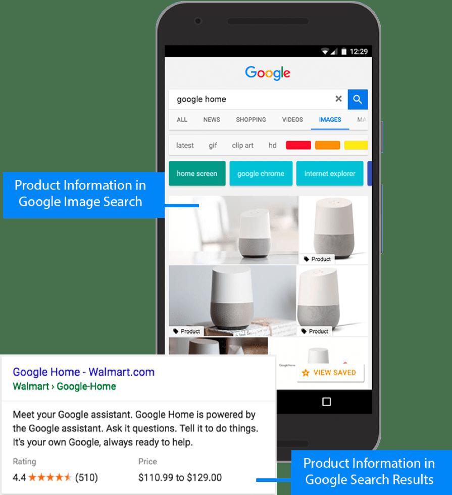 Informazioni dettagliate sul prodotto nella ricerca di Google