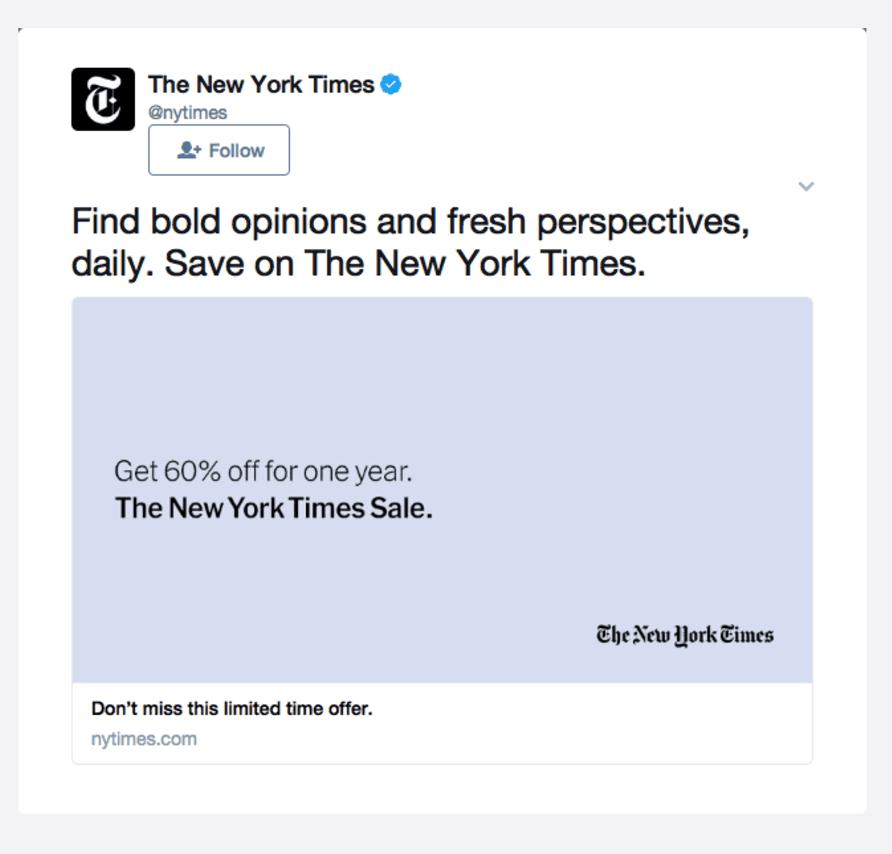annuncio twitter new york times