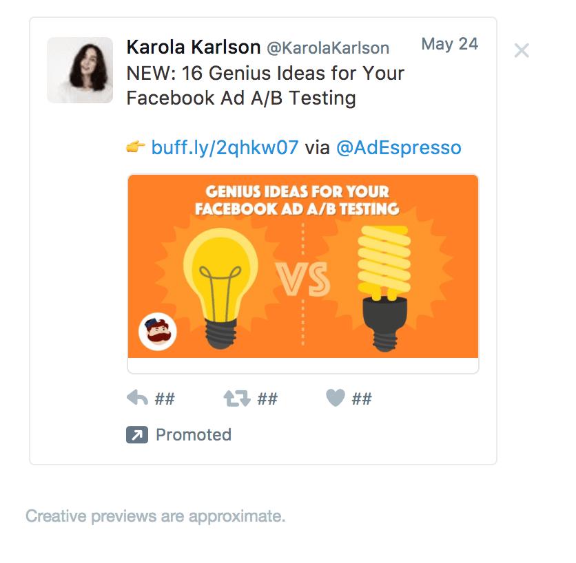 esempio di Twitter ad esempio