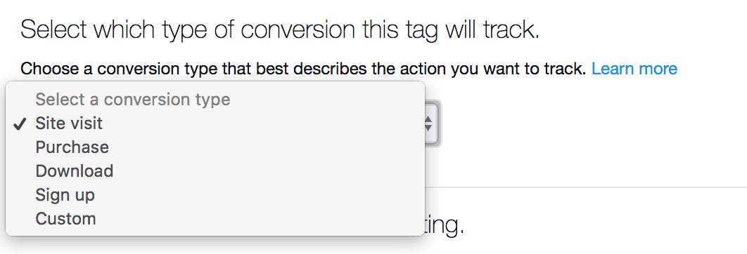 eventi di conversione di twitter