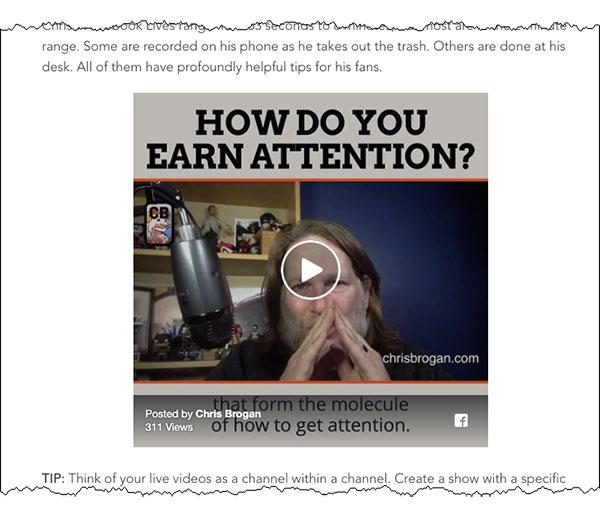 Esempio di video nel post del blog dal blog DigitalMarketer