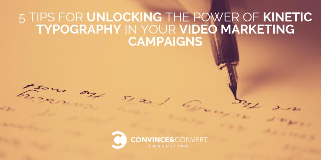 5 consigli per sbloccare la potenza della tipografia cinetica nelle tue campagne di marketing video
