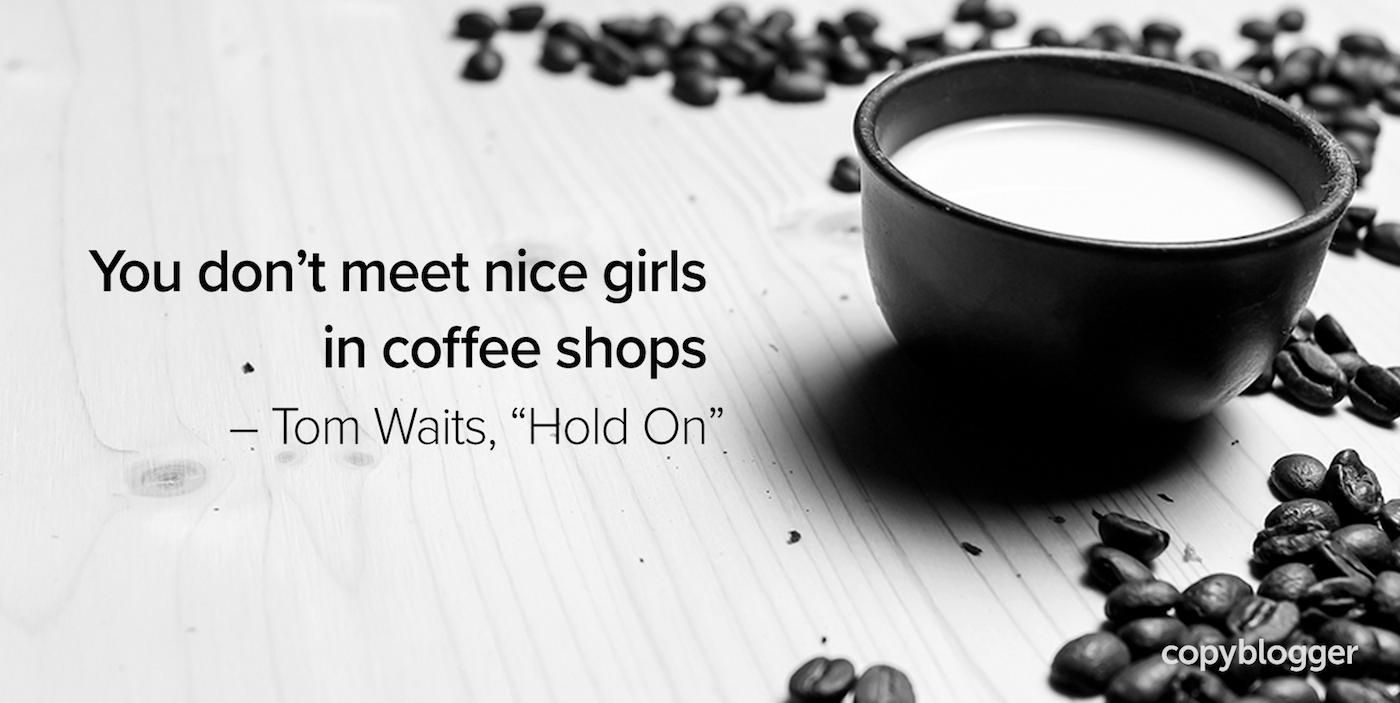 Non incontri ragazze carine nei bar - Tom Waits,