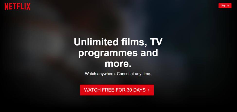 Invito all'azione Netflix
